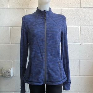 Lululemon blue & gray stripe jacket sz 12 61991